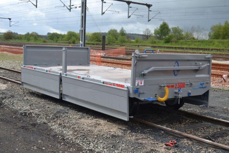 Construction d'un container ferroviaire plateau